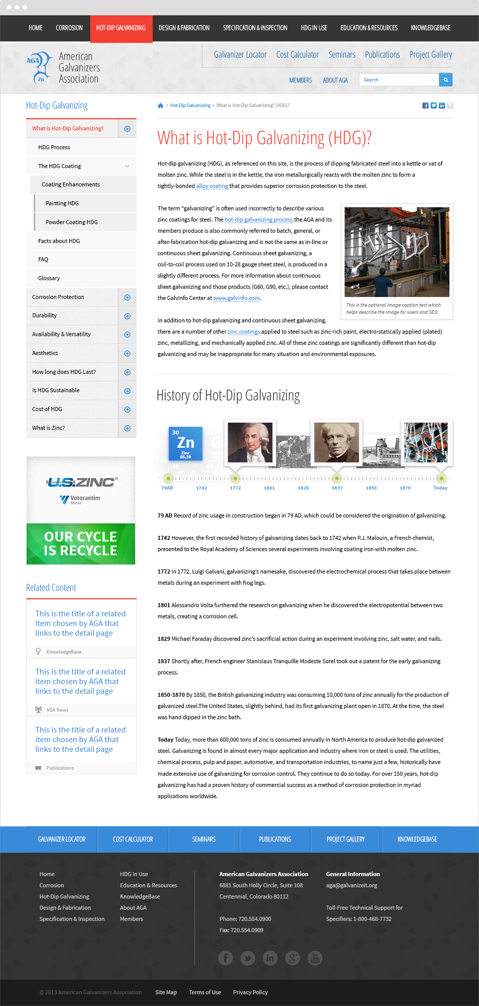 AGA  ExpressionEngine Website Article Page