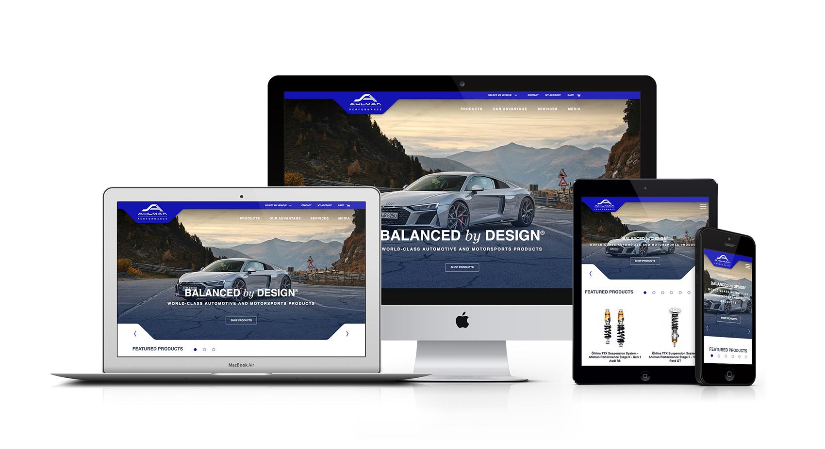 Ahlman Performance Craft CMS eCommerce website