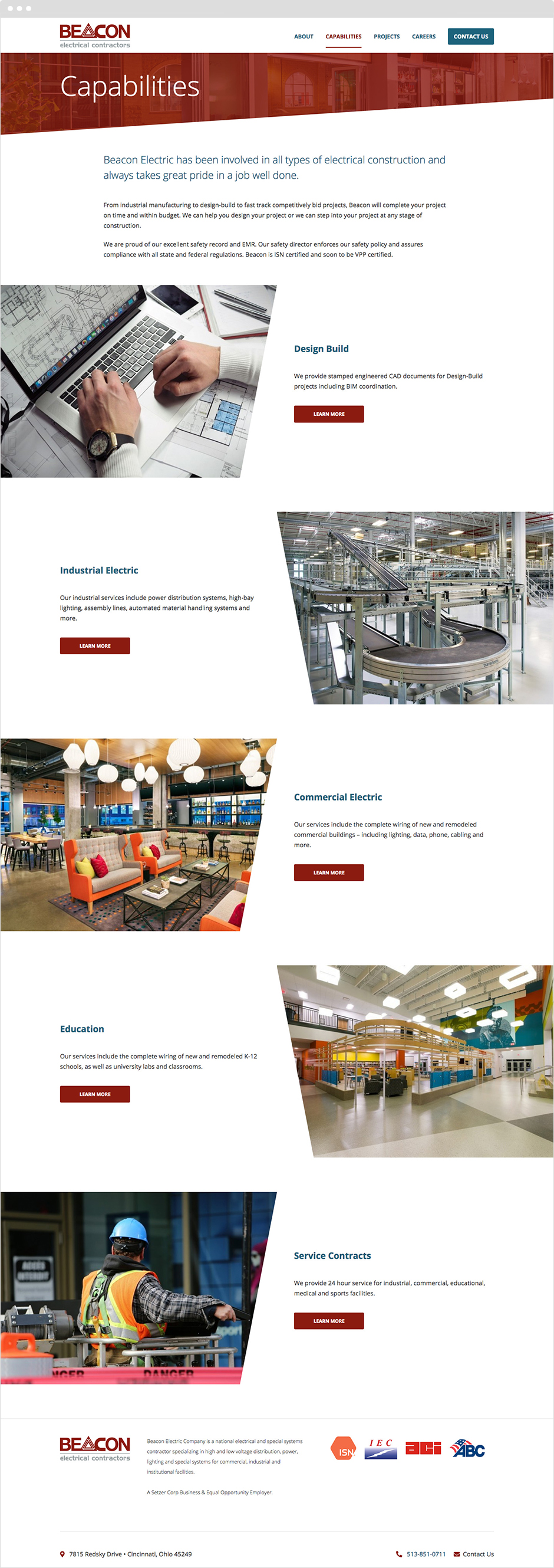 Beacon Electric Responsive ExpressionEngine Website Design