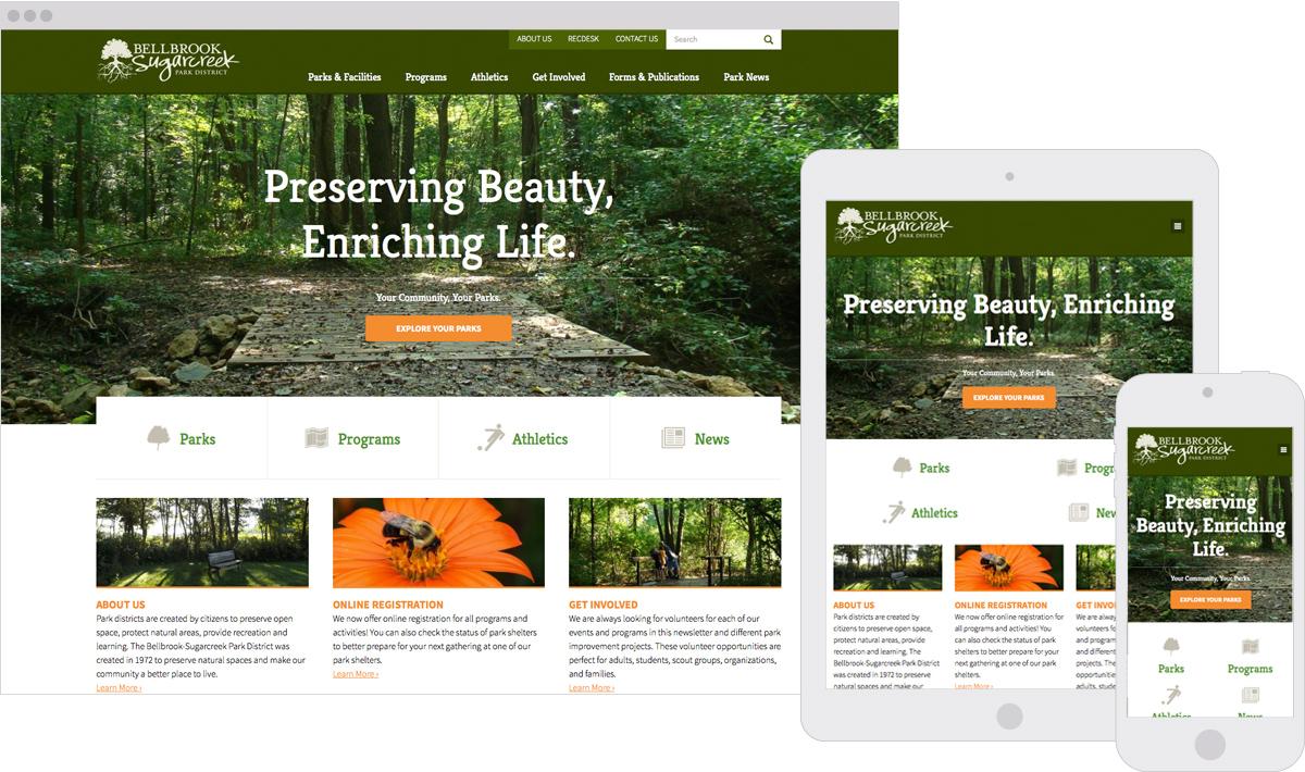 Bellbrook-Sugarcreek Park District Responsive ExpressionEngine Website Redesign