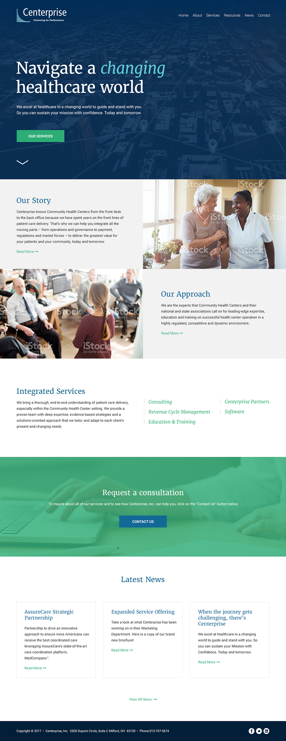 Centerprise Healthcare Consulting Responsive Website Design