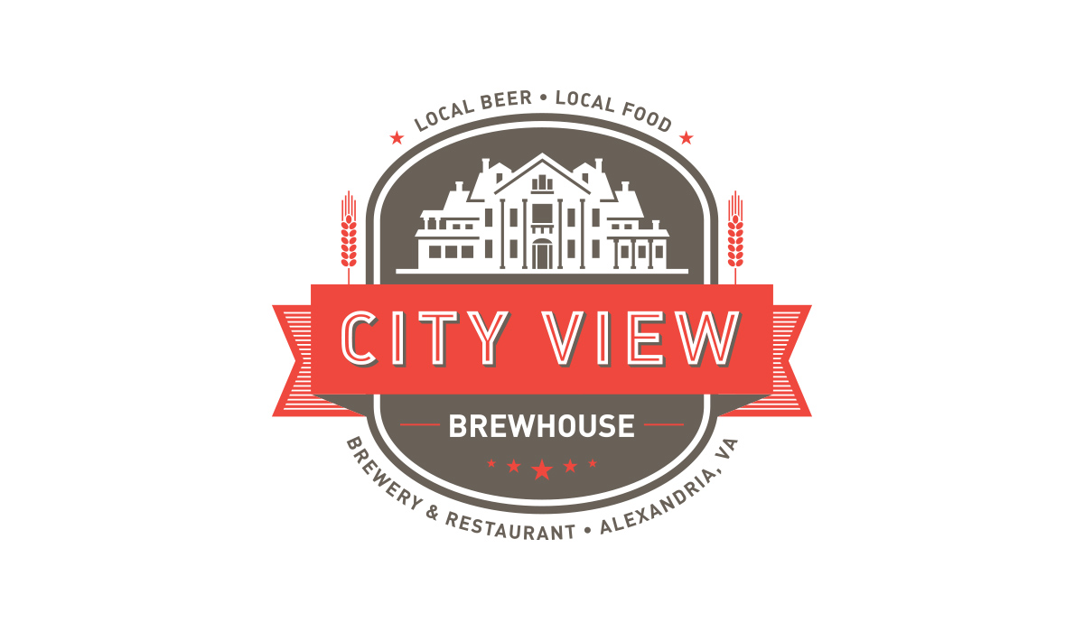 City View Brewhouse restaurant and brewery logo design