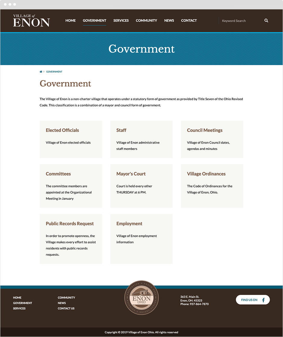 Government Web Design