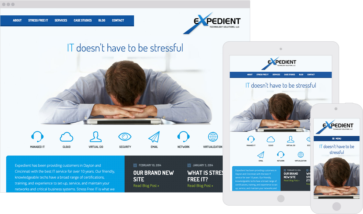 Expedient Technology Responsive ExpressionEngine Website Design
