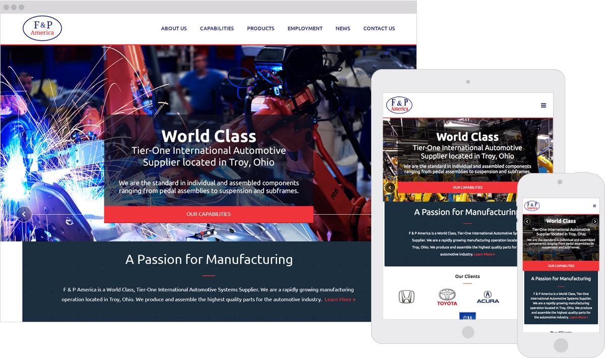 F&P America Responsive ExpressionEngine Website Design