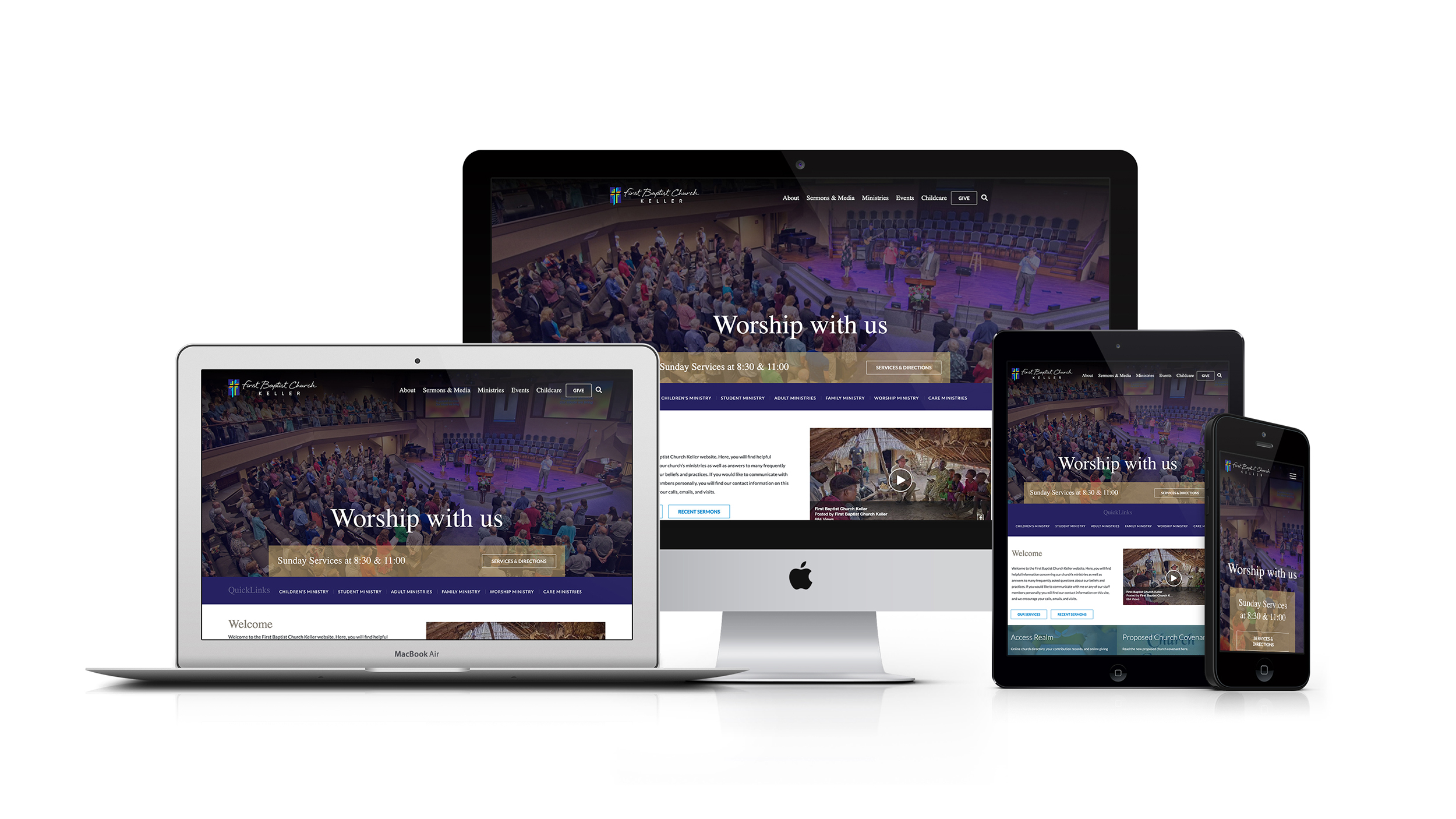 First Baptist Church Keller TX responsive Craft CMS Website design