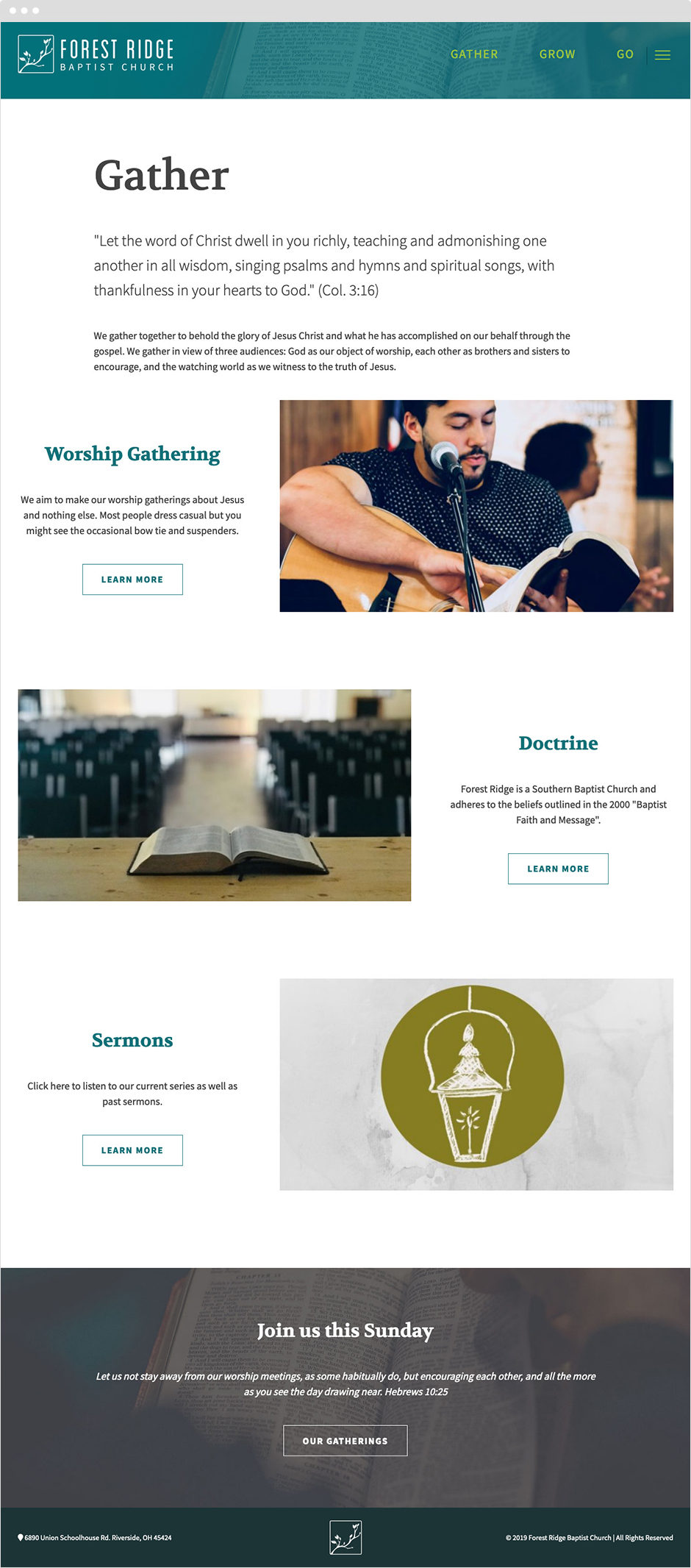 Craft CMS Church Website Design