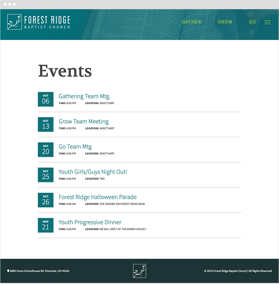 Baptist Church Website