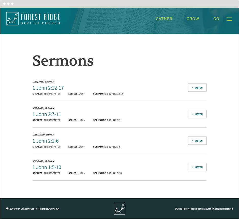 Forest Ridge Baptist Dayton Website