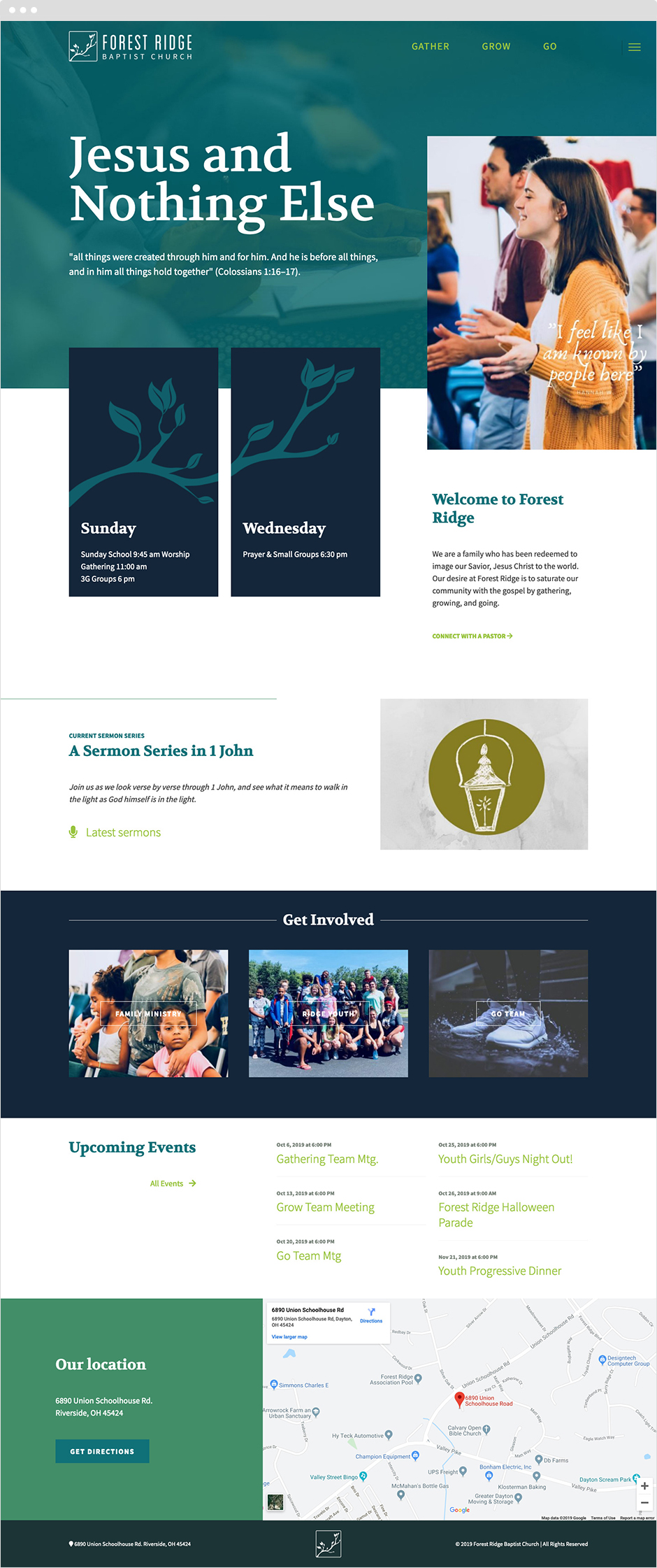 Forest Ridge Baptist Website Redesign on Craft CMS