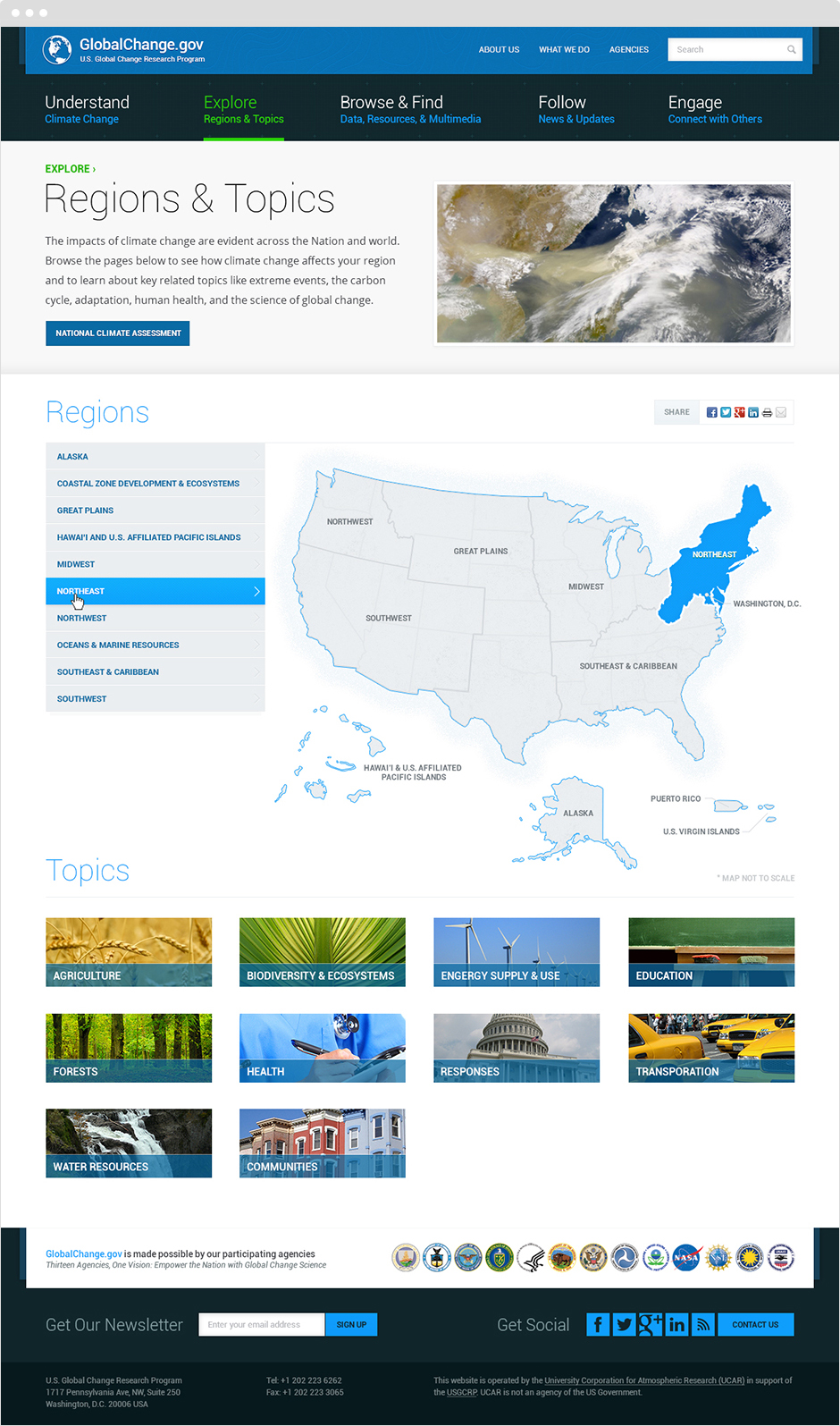 globalchange.gov Responsive Website Design