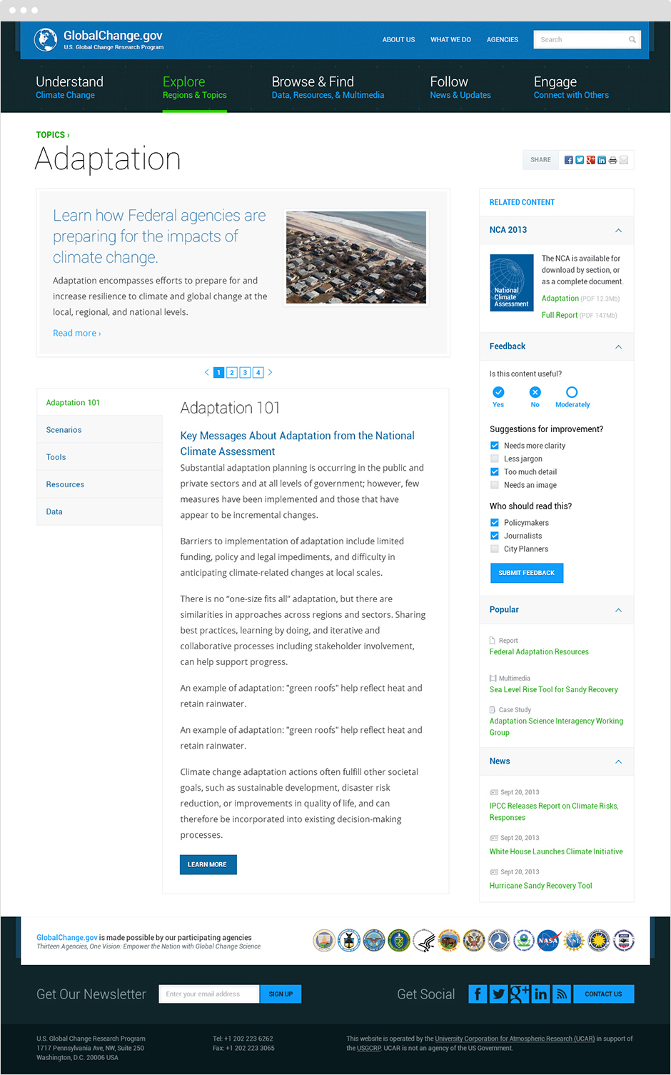globalchange.gov Website Design and Development