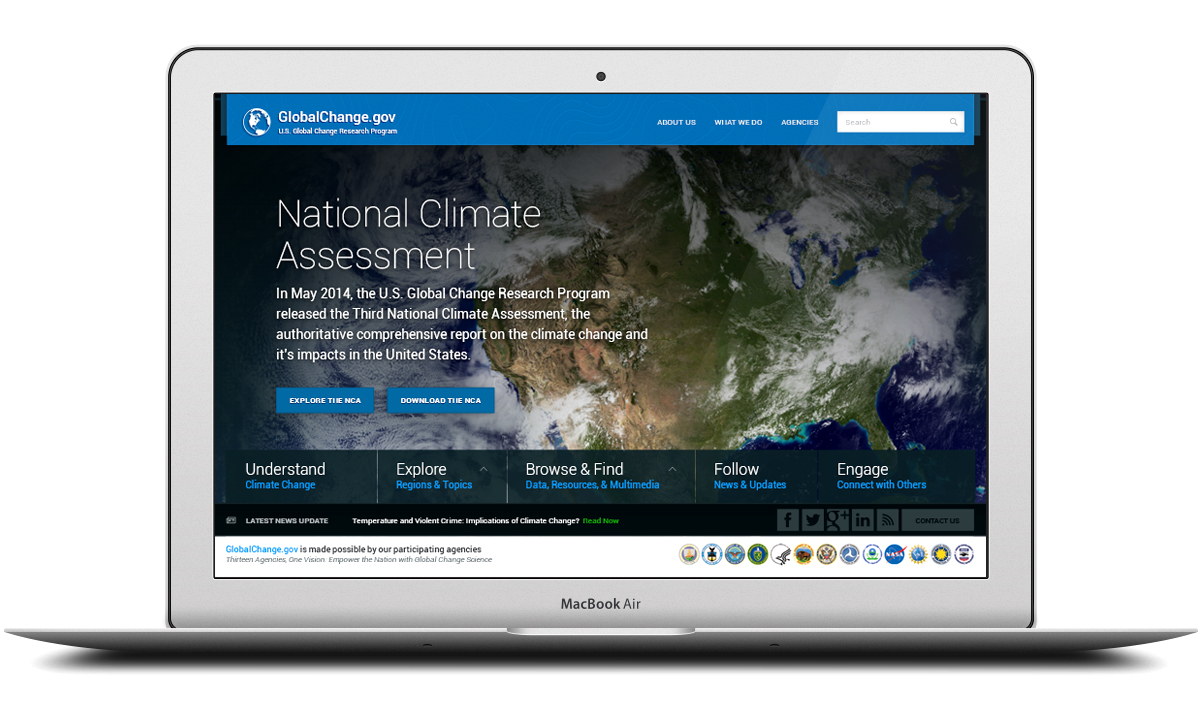 GlobalChange.gov Responsive Website Design for the National Climate Assessment