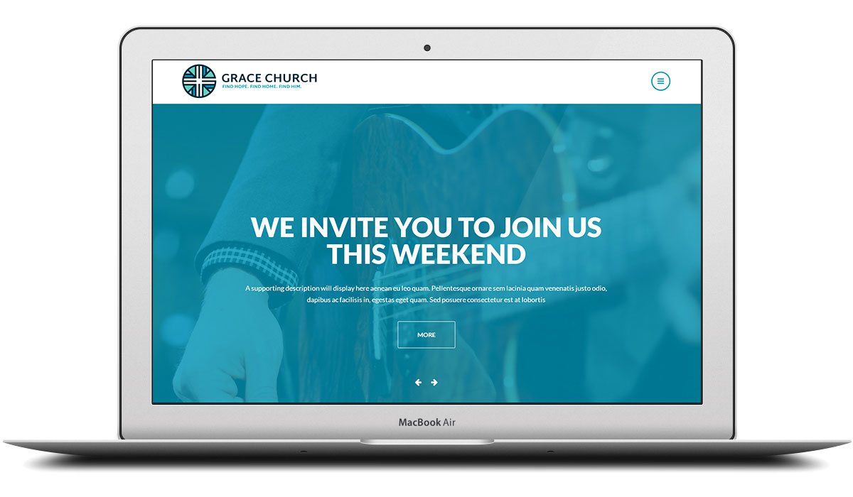 Grace Church responsive Craft CMS Website design