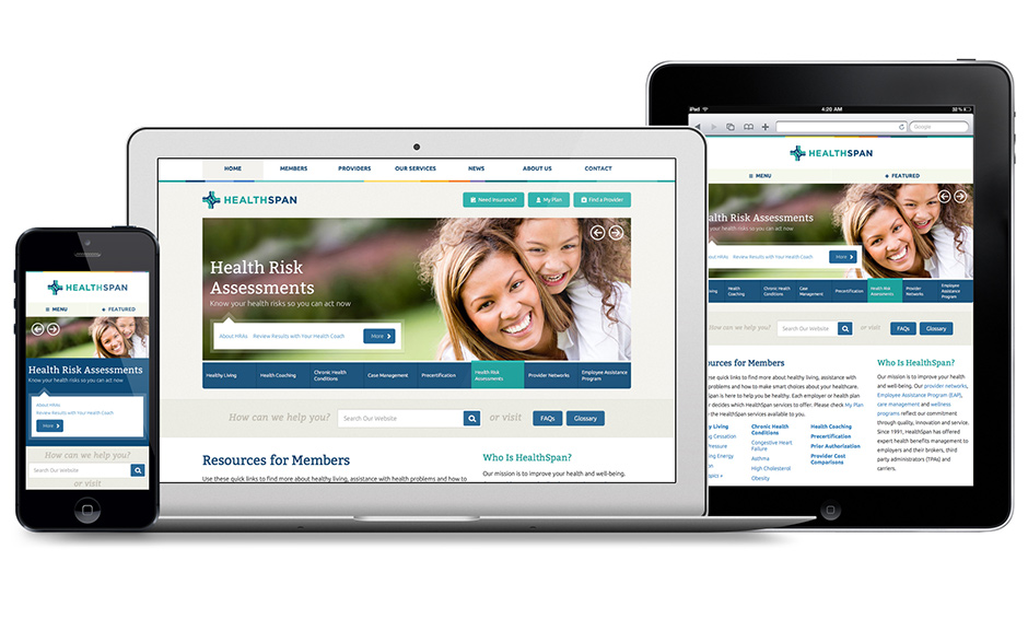 HealthSpan Network Responsive Website