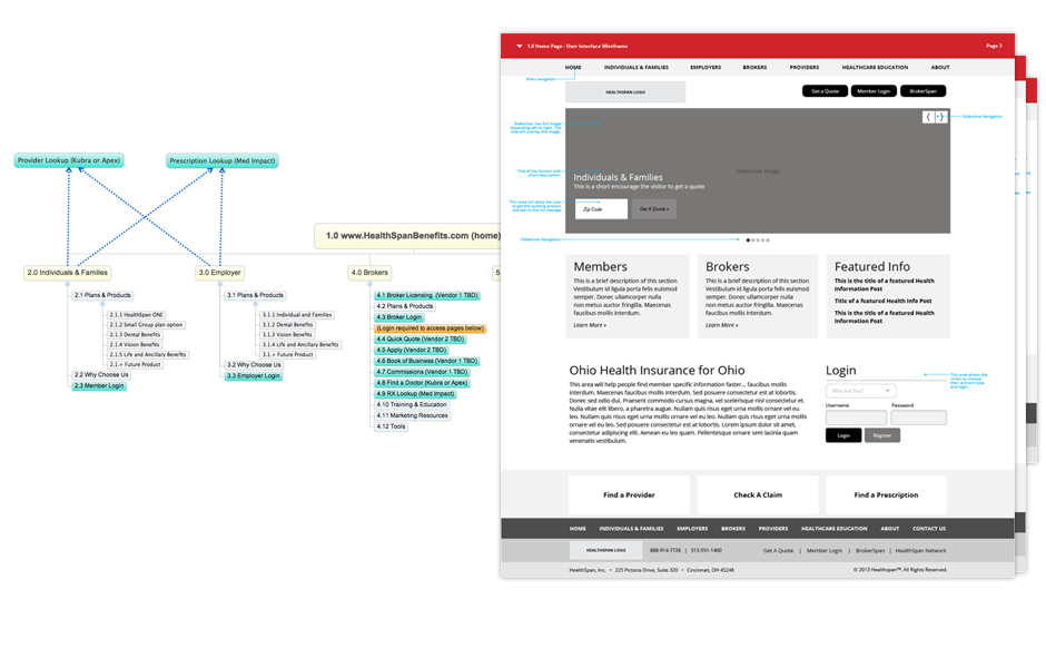 Information Architecture and User Interface Design for HealthSpan