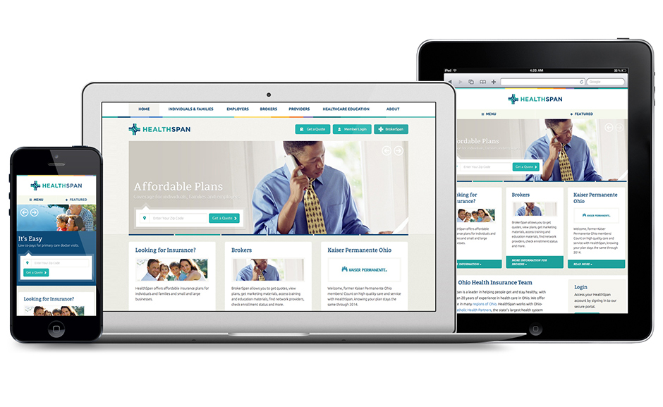 HealthSpan Insurance Responsive Website