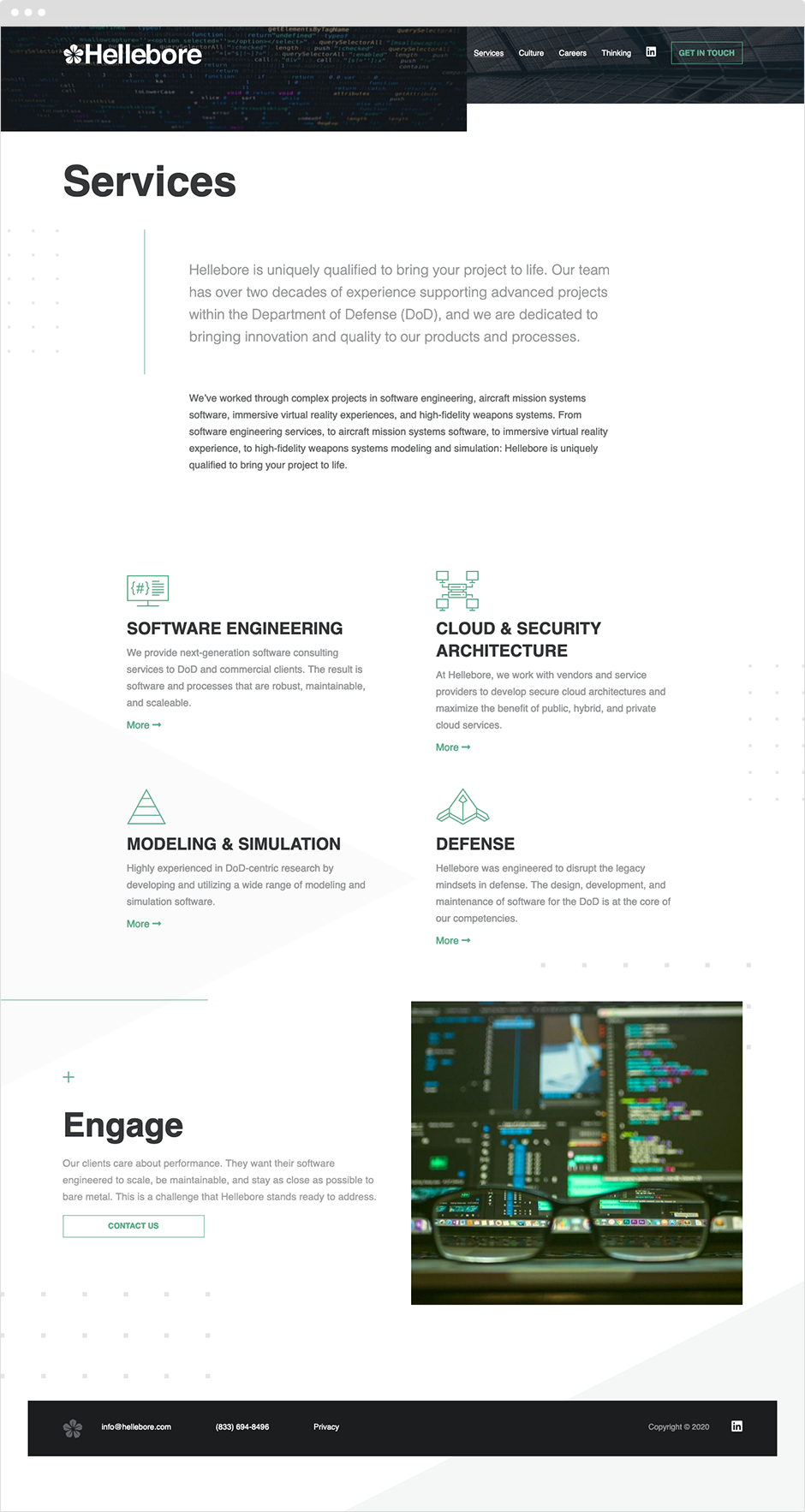 Hellebore Custom Website Design