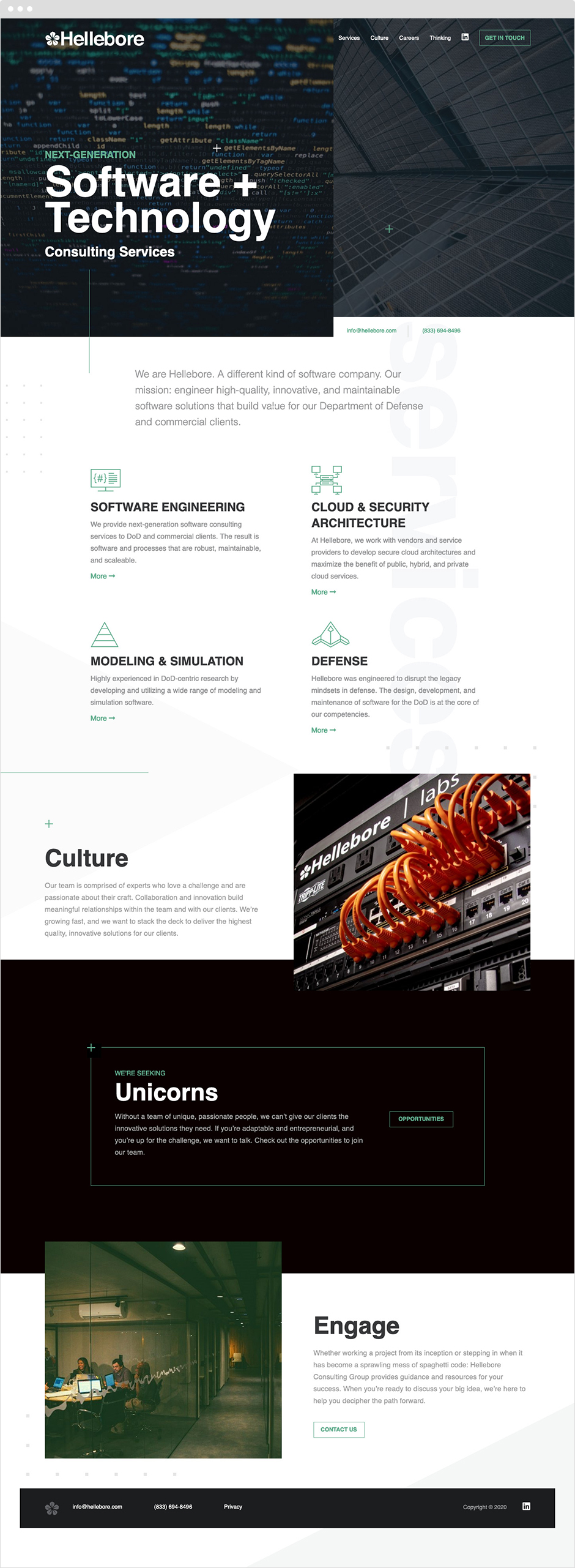 Hellebore Responsive Website Design