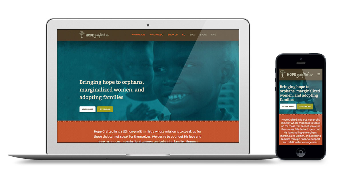 Hope Grafted In Responsive ExpressionEngine Website Design