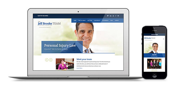 Responsive Web Design for Personal Injury Attorney