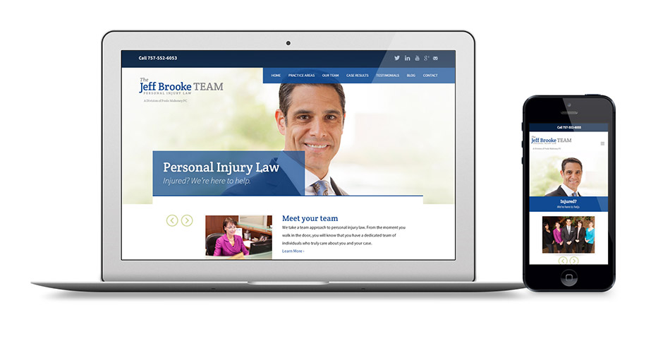 Jeff Brooke Team Law Attorney Responsive Website Design and ExpressionEngine Development