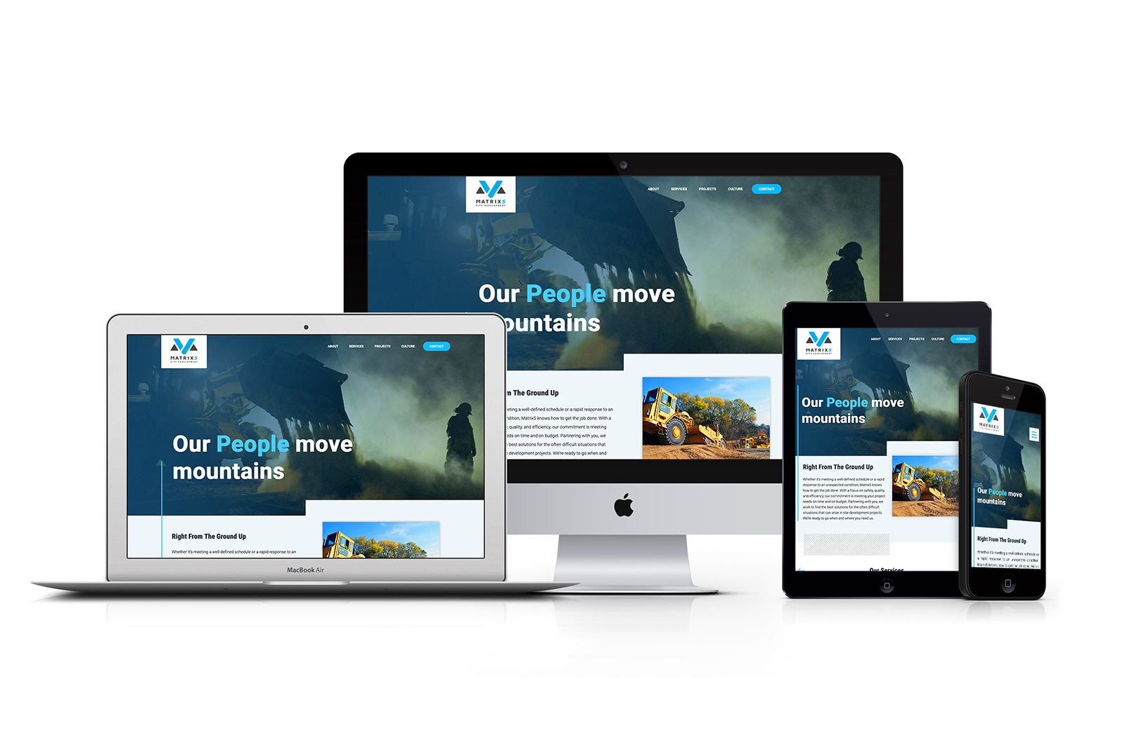 Matrix5 Responsive Website Design