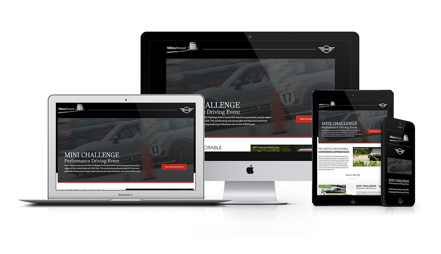 Miles Ahead Motorsports MINI Racing Responsive Website Design