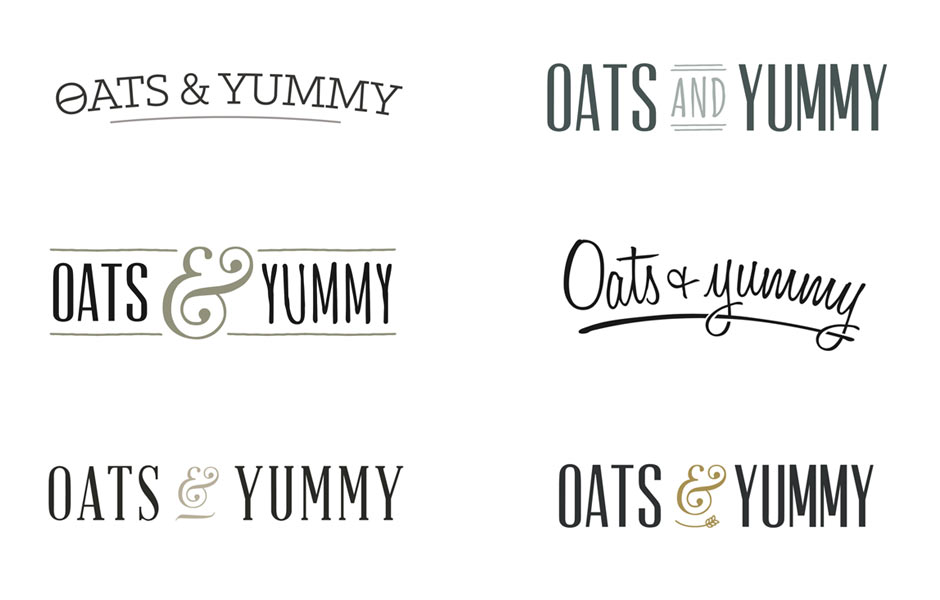 Oats and Yummy Logo Design Concepts