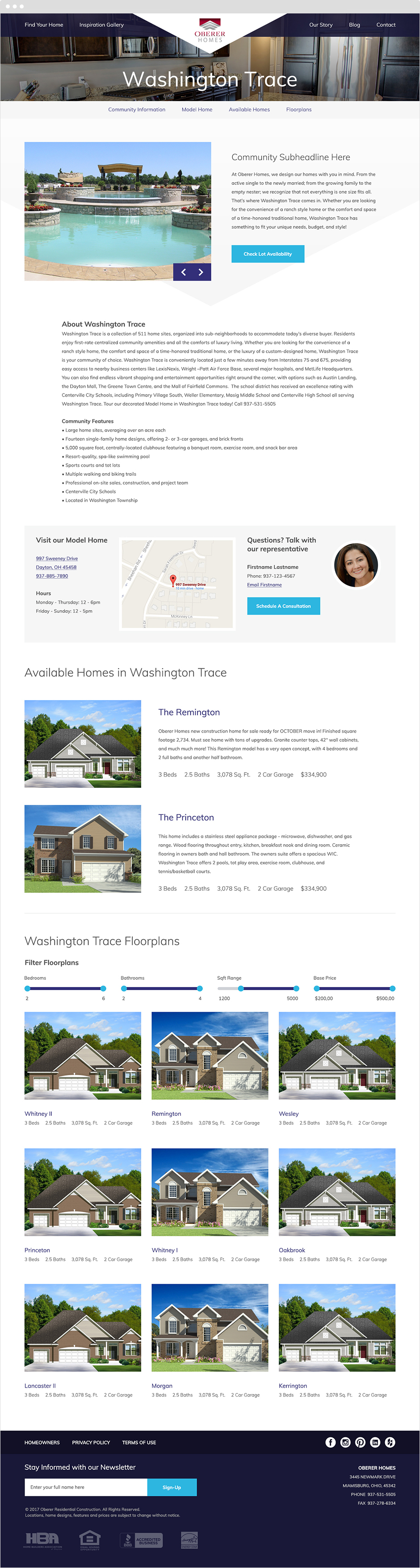 Home Builder Website User Experience Design