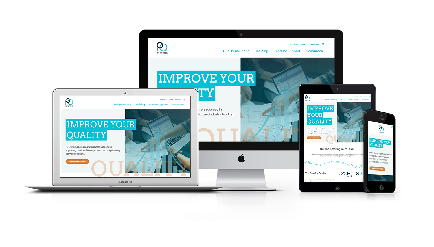 PQ Systems Responsive Website Design