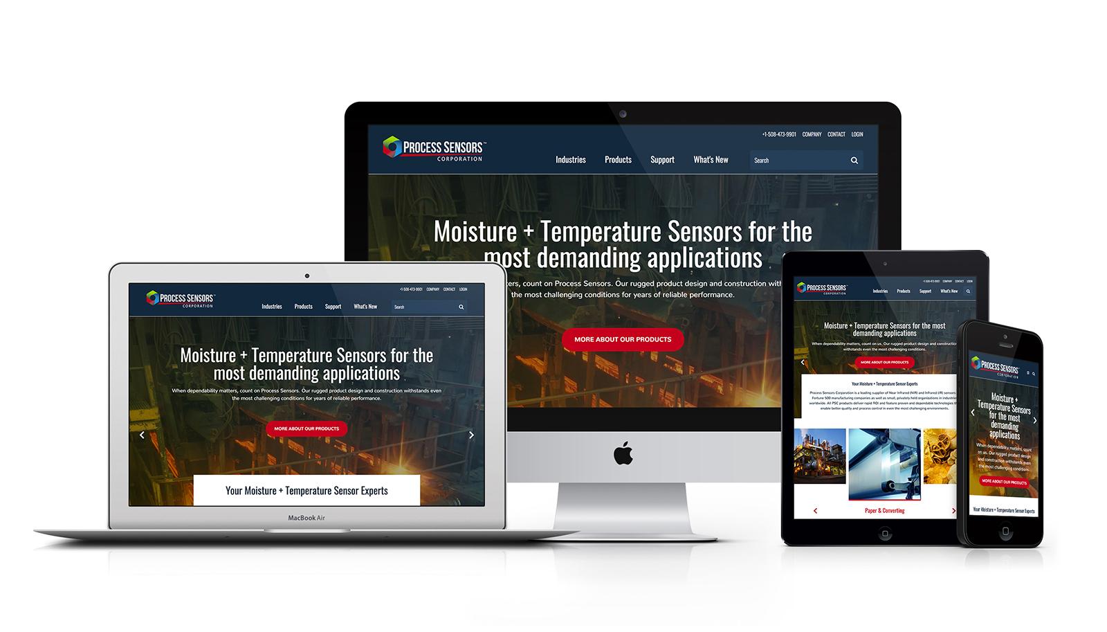 Process Sensors Corporation Responsive Website Design