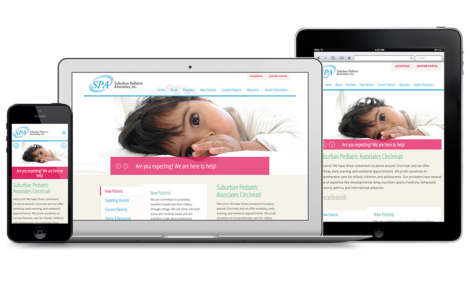 Responsive Suburban Pediatrics Website