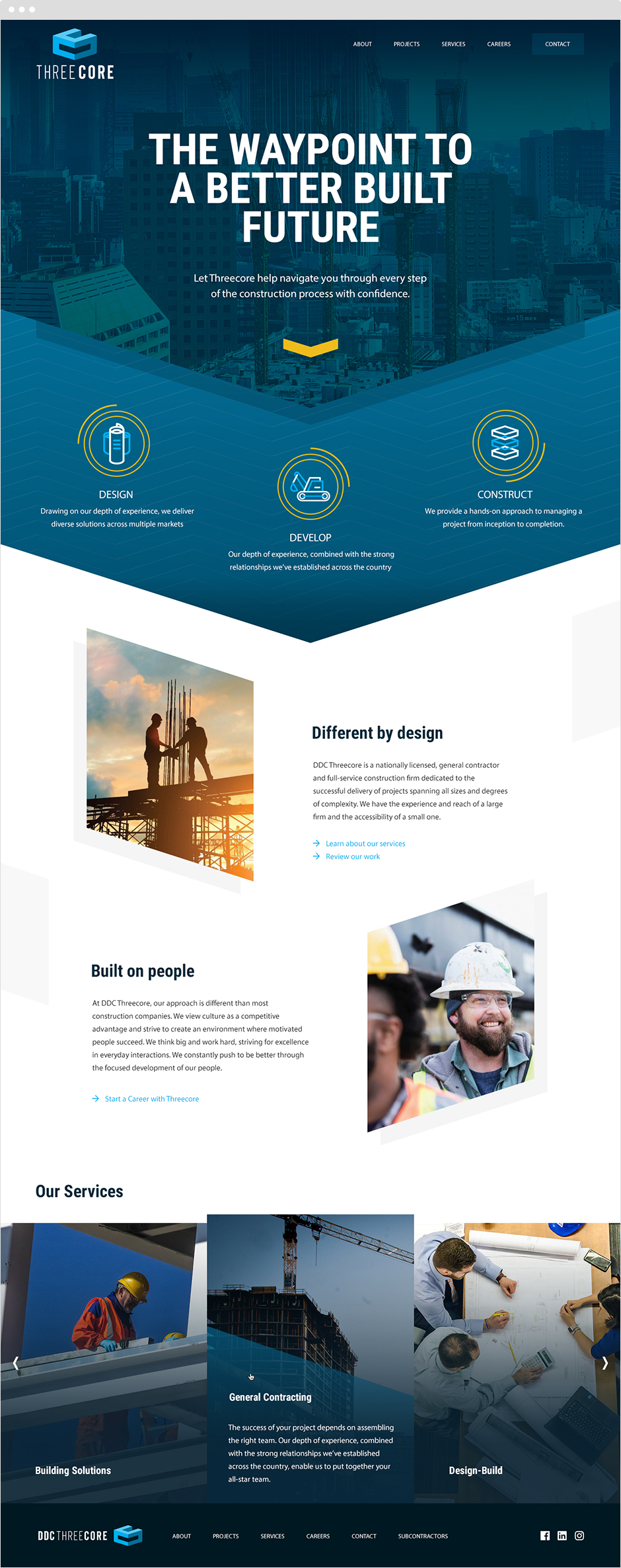Threecore responsive website design and branding
