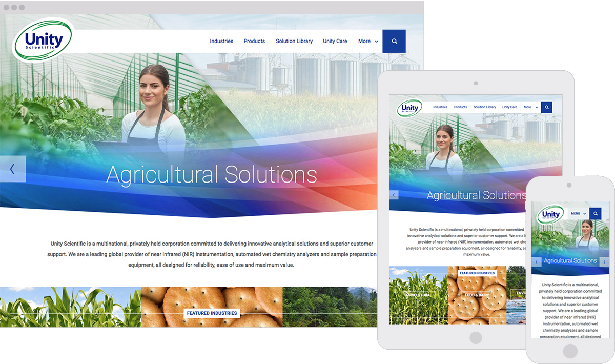 Unity Scientific Responsive Website Design
