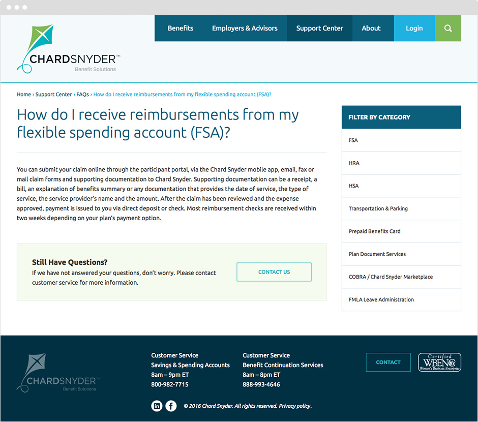 Custom ExpressionEngine Website Development for Chard Snyder Insurance Benefits