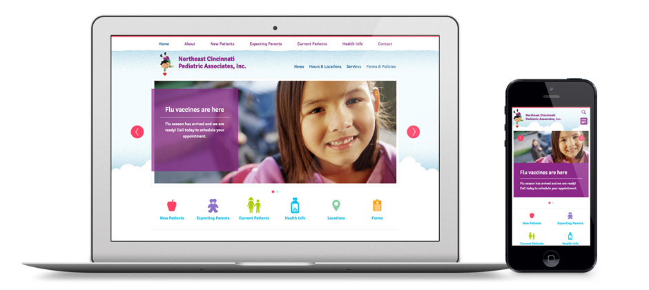Cincinnati Pediatrics Responsive Physicians Website