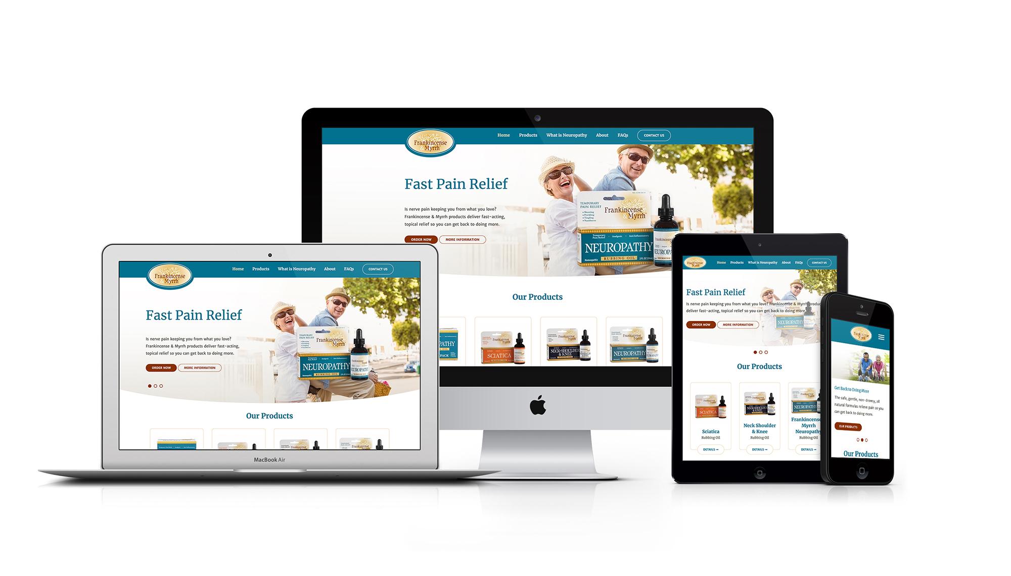 Frankincense & Myrrh Website Redesign