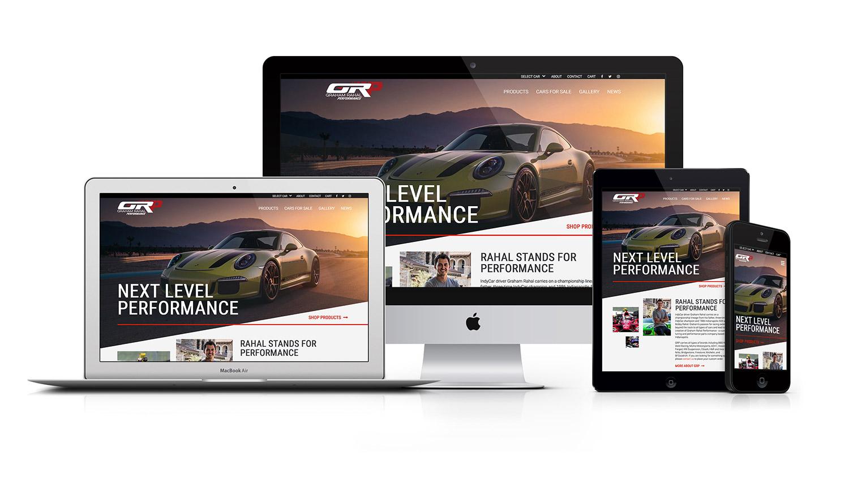 Graham Rahal Performance Responsive Web Design