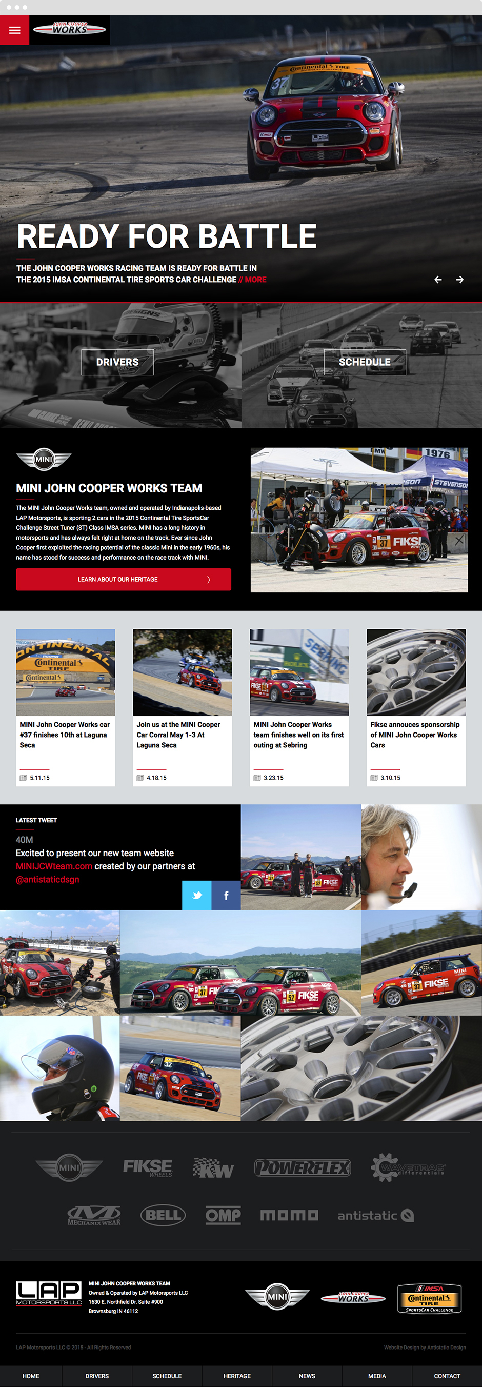 MINI John Cooper Works Team Website Design & Development